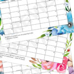 floral calendars