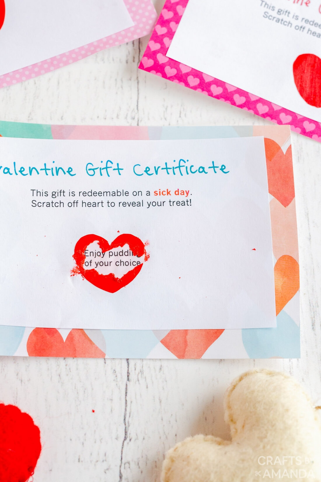 heart scratched off to reveal prize