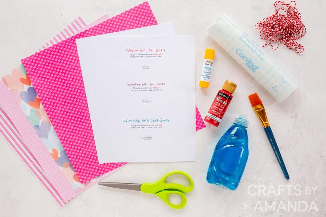 craft supplies and printable