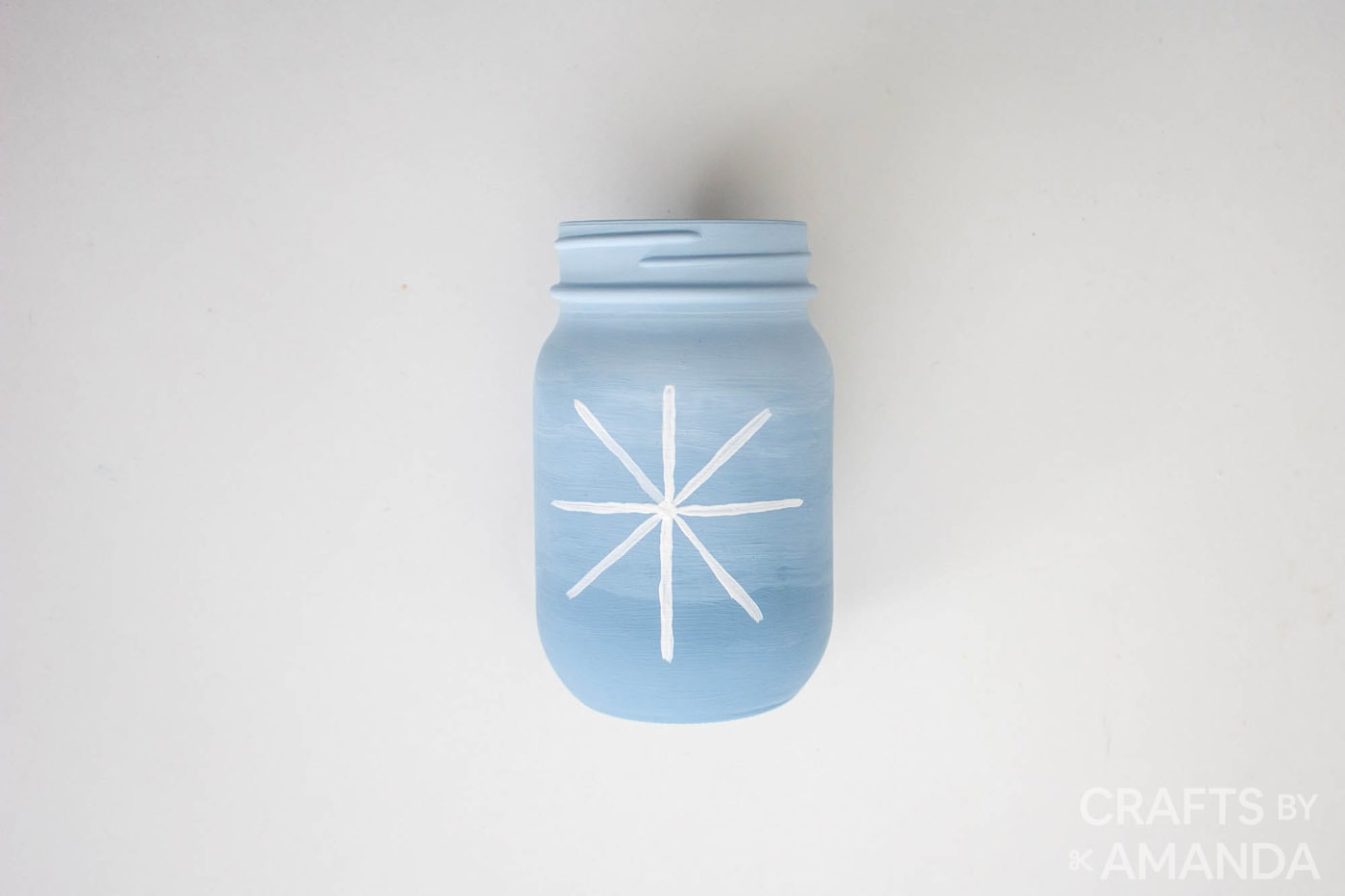 x shape added to cross on jar