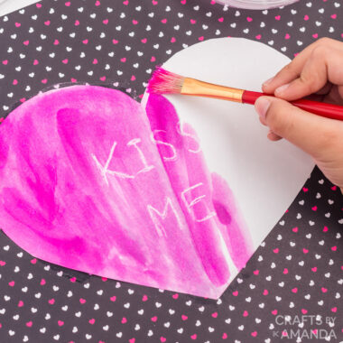 painting a heart shape