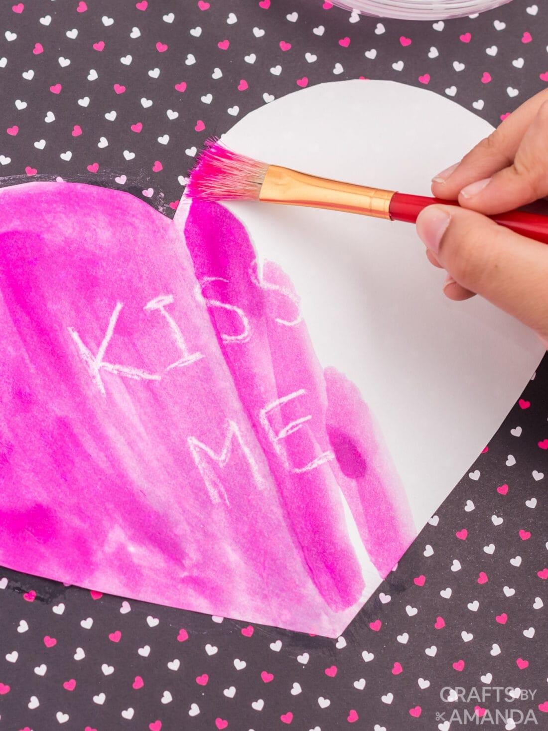 painting a heart shape