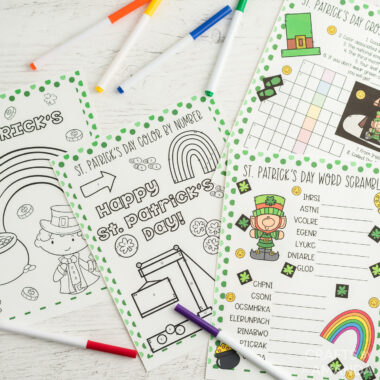 st patricks day activity sheets