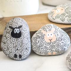 Sheep Painted Rocks