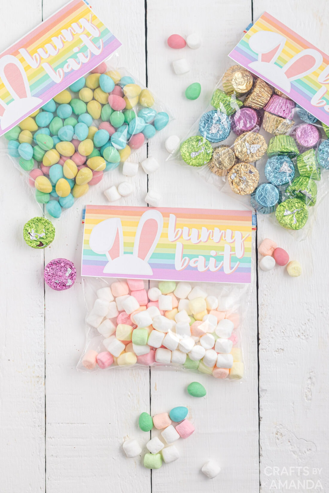 treat bags with bunny bait bag toppers