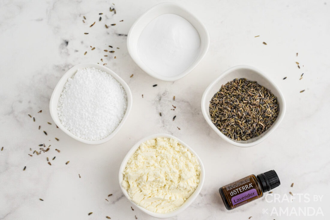 supplies needed for Lavender Milk Bath