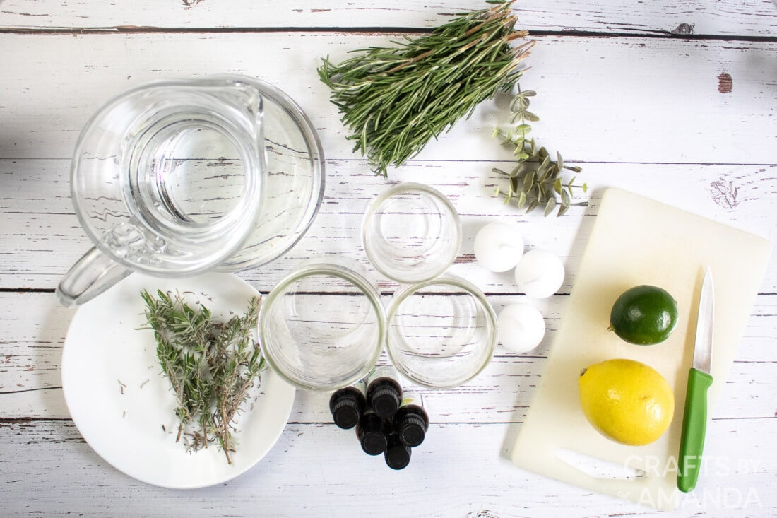 supplies for DIY Mosquito Repellent Candles