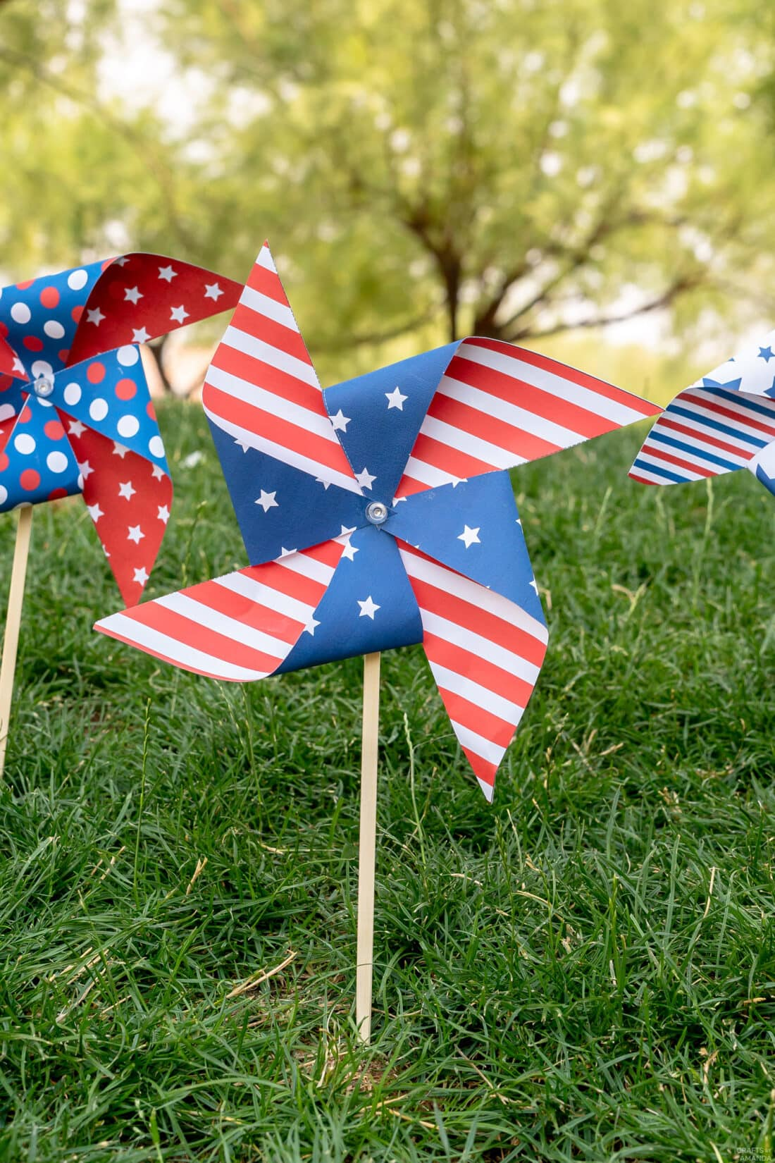pinwheels in the grass
