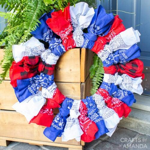 Patriotic Bandana Wreath