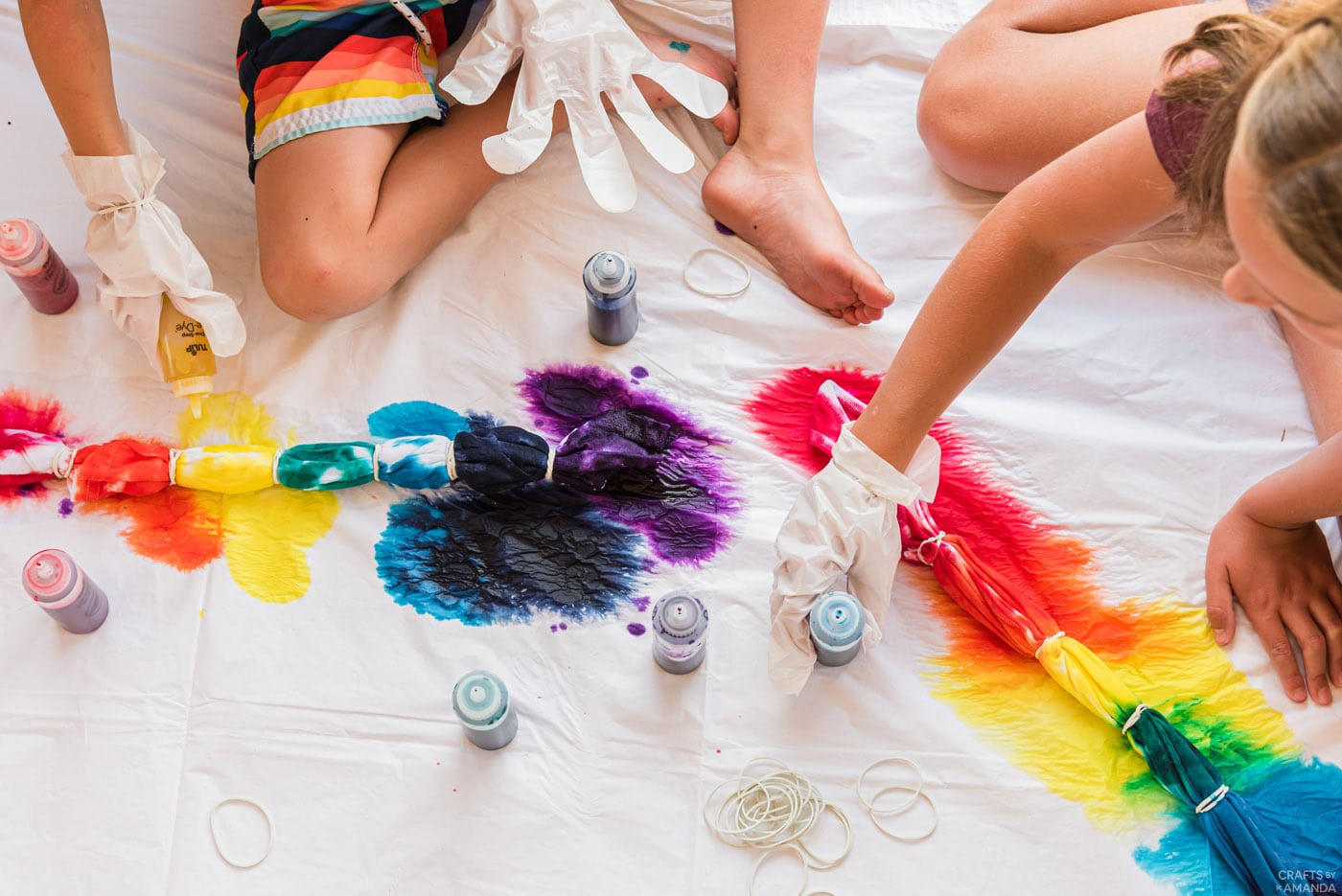 tie dying white t shirts