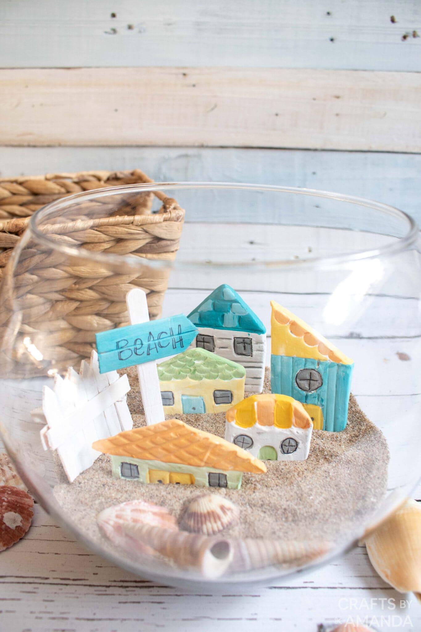 Clay houses beach inspired decor