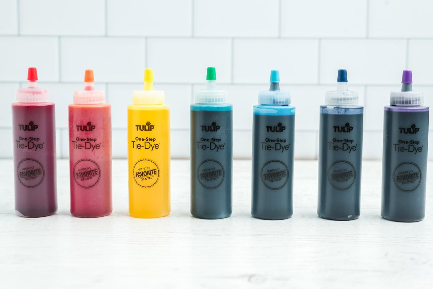 squeeze bottle tie dye