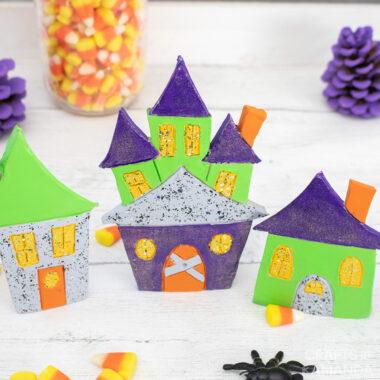 Clay Halloween Village