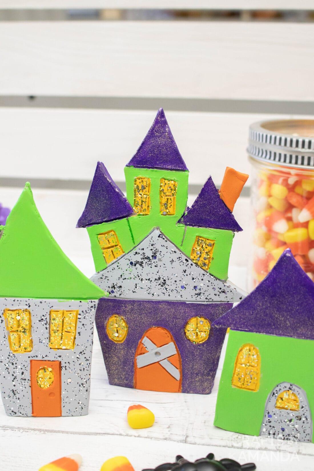 klei halloween huizen