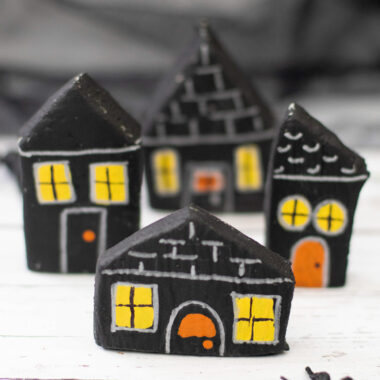 Salt Dough Haunted Houses